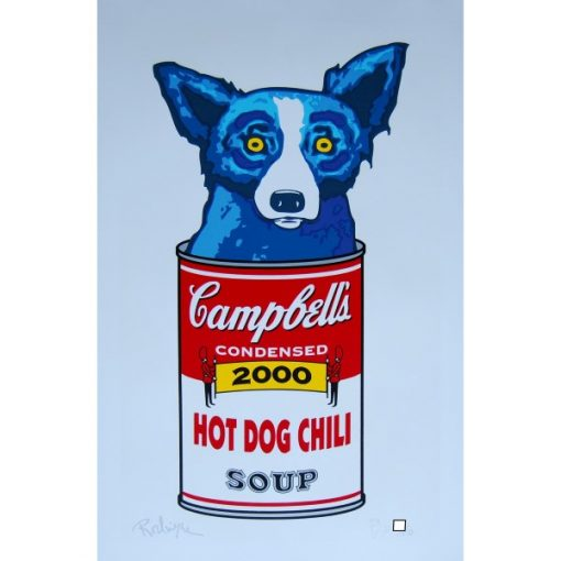 blue dog in campbells soup can