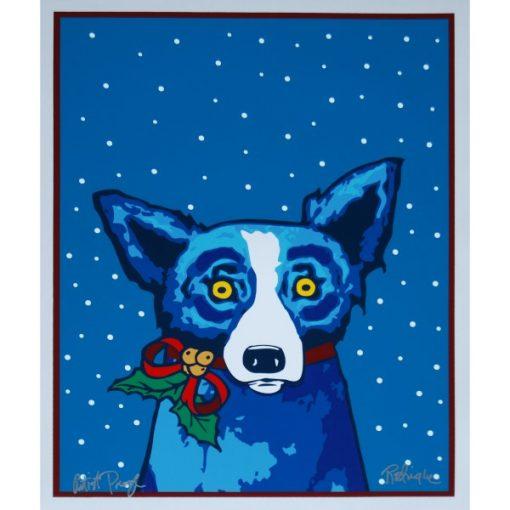 blue dog snow