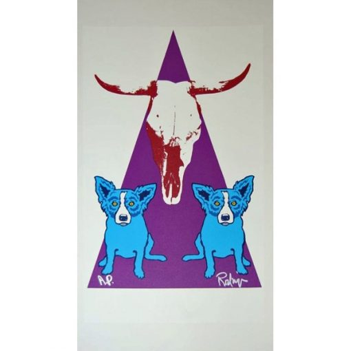 blue dogs purple triangle