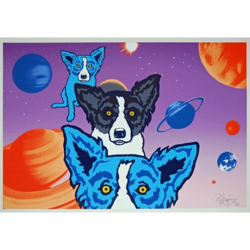 blue dog in space