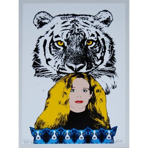 wendy with tiger background white